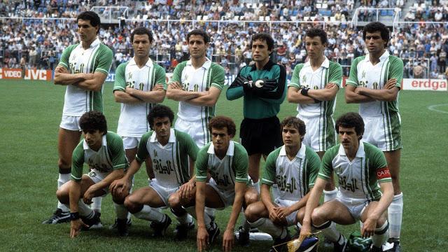 Formación de Argelia ante Chile, Copa del Mundo España 1982, 24 de junio