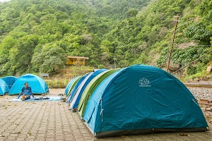 Camping site beside Dudhsagar Water Falls