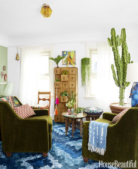 BoHoHome.com @bohosusan; Justina Blakeney interview in House Beautiful. Photos by David Tsay