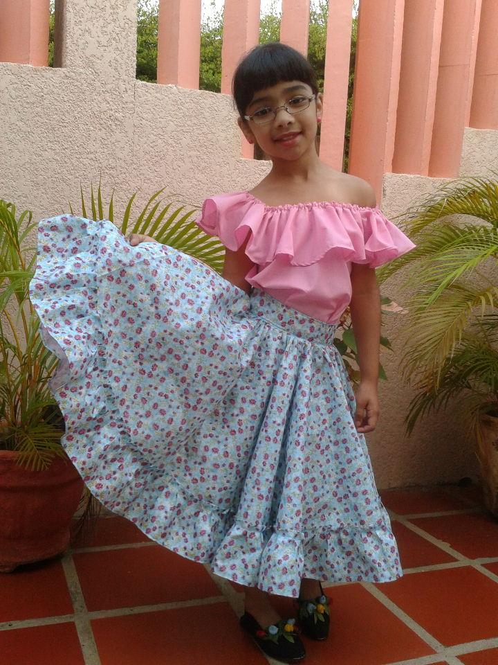 72f82eed3 Novedades Paola: Pasos para Confeccionar una Falda de Danza FolKlorica