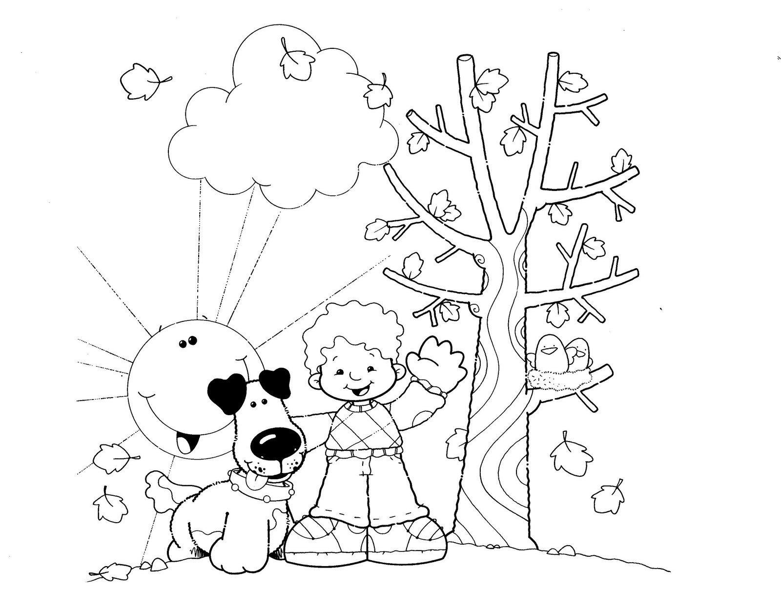Dibujos Para Colorear Del Otoño Maestra De Infantil Hojas De Otoño