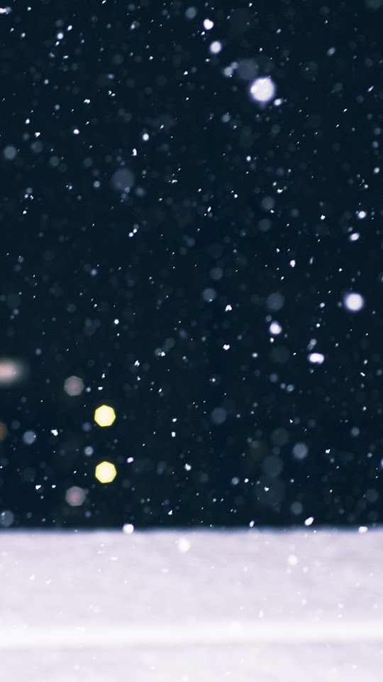 Snow Falling Bokeh Winter  Galaxy Note HD Wallpaper