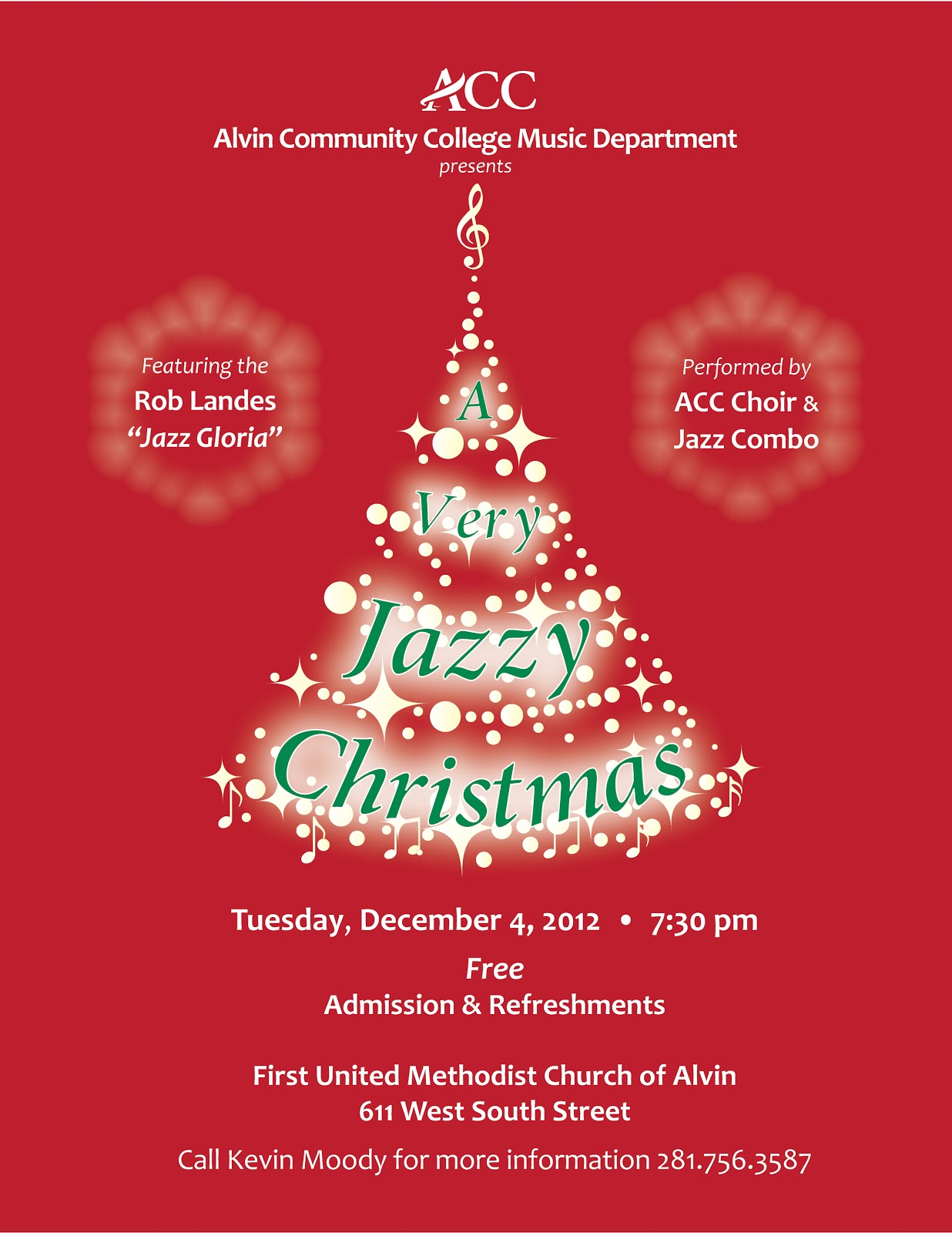 acc campus news acc jazzy christmas concert the alvin community choir will be performing a christmas concert a jazz flair on 4 at the alvin united methodist church