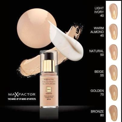 Behind Green Eyes: Max Factor Facefinity Foundation in Warm Almond