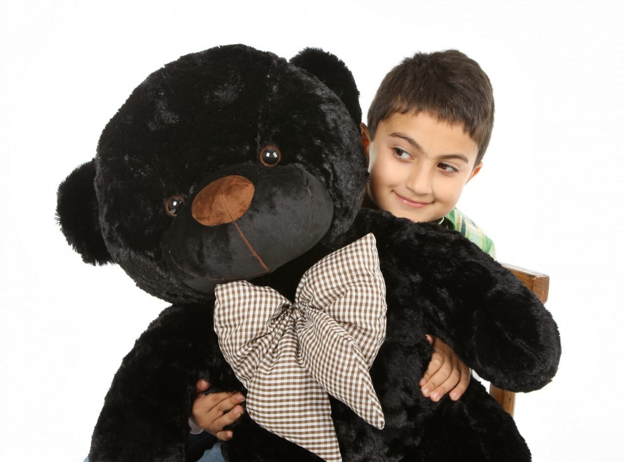 Meet Juju Cuddles 38in black teddy bear