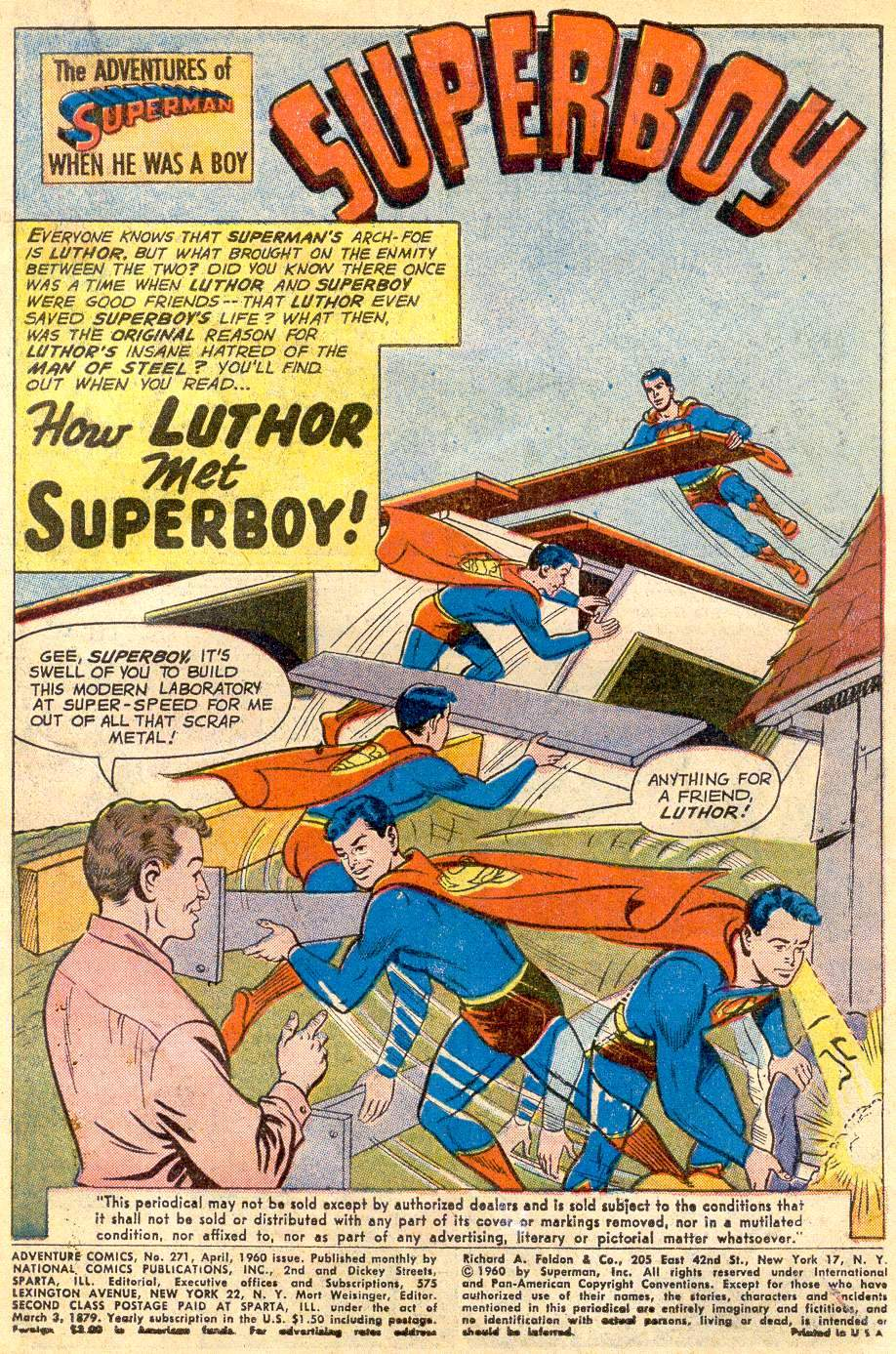 Read online Adventure Comics (1938) comic -  Issue #271 - 3