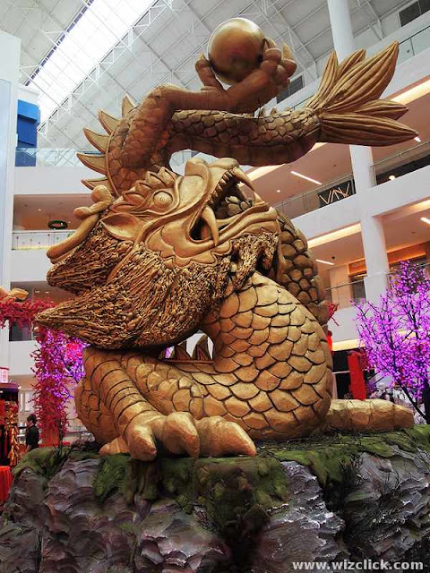 CNY dragon decoration at Viva Home Sopping Mall