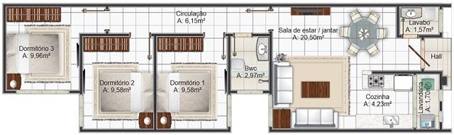 PLANO DE CASA DE 78 M2