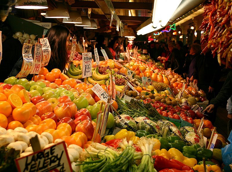 pike market place food seattle cursed washington most supply culinary places tour pikes fish street produce fruit wa foodie blogthis