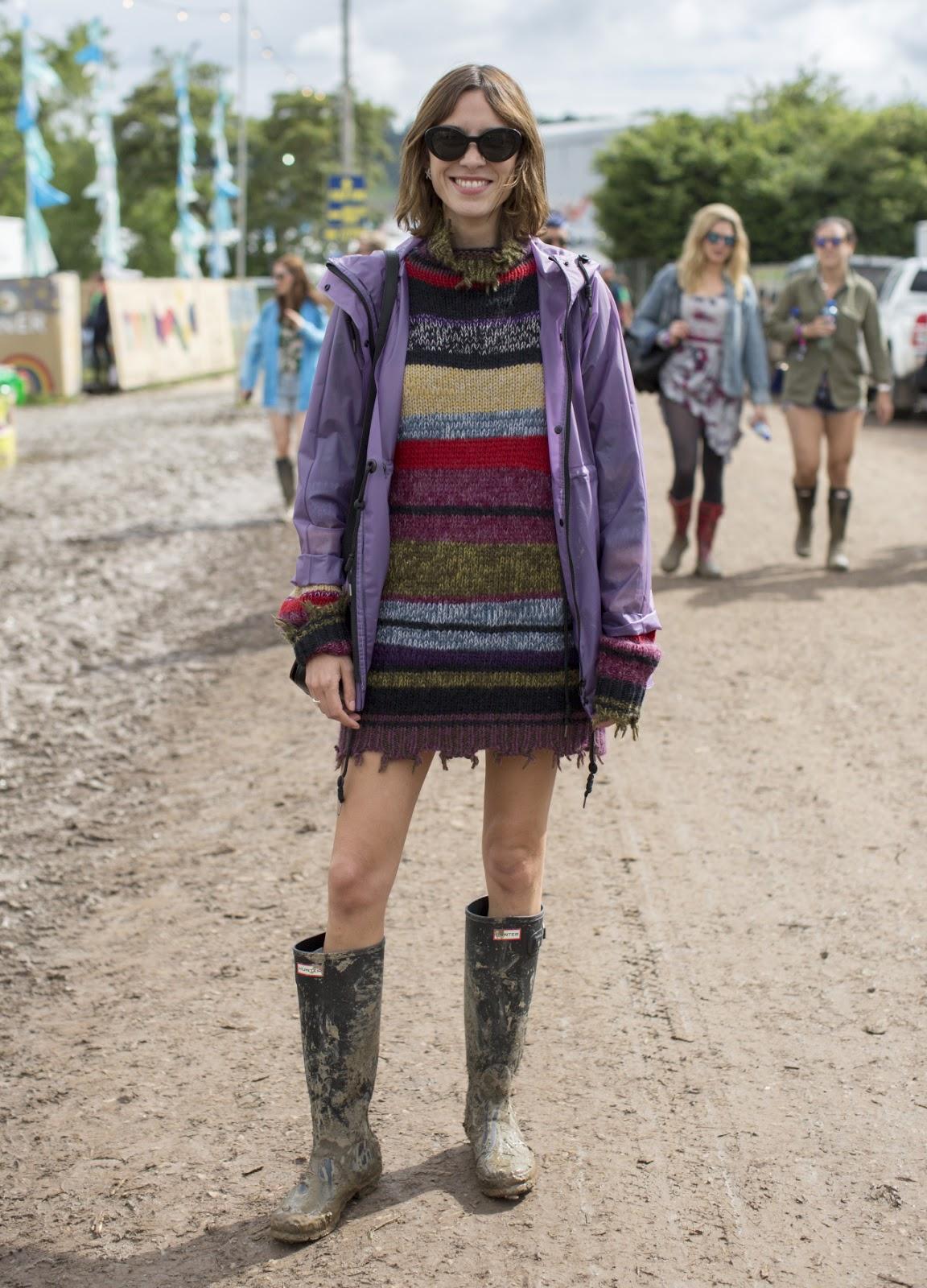Alexa Chung's Glastonbury Festival 2016 Style