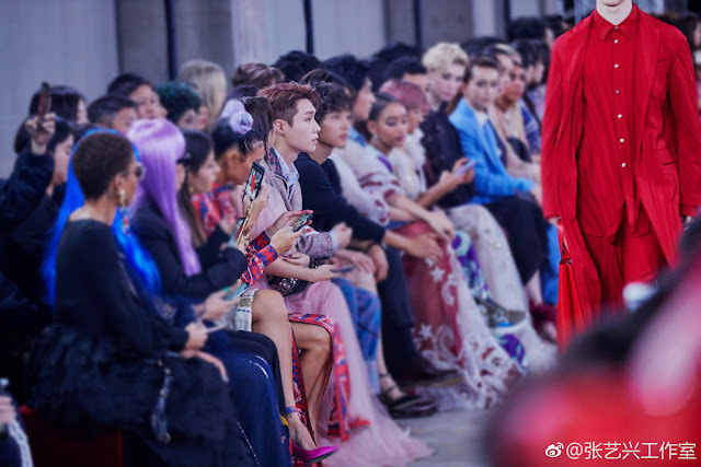 Zhang Yixing TKY Valentino front row