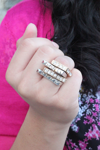 Forever 21 Asymetrical Stacked Rings