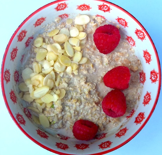 Overnight Oats recipe with Peanut Butter Apple Cinnamon