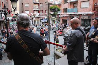 La Banda de Jalber en la plaza Federico García Lorca