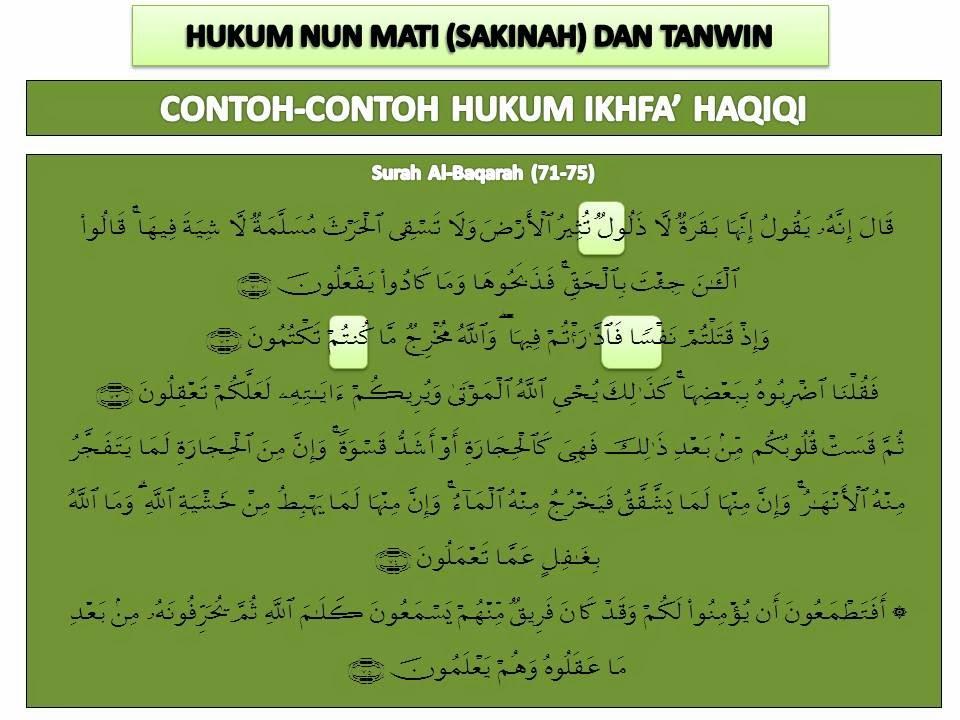 Mencari Hidayah Allah Contoh Contoh Hukum Ikhfa Haqiqi Dalam