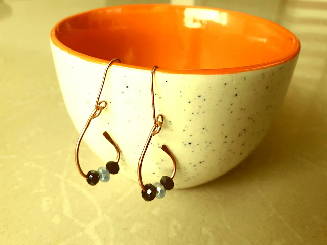 Copper Wire Ear Rings, Copper Rings, Copper Jewelry