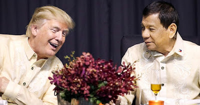 Donald Trump, left, and Rodrigo Duterte