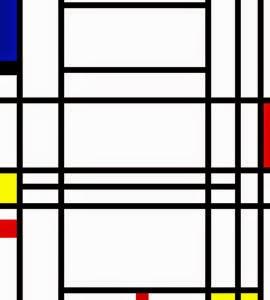Composição X - Piet Mondrian e Suas Pinturas | Criador do Neoplasticismo