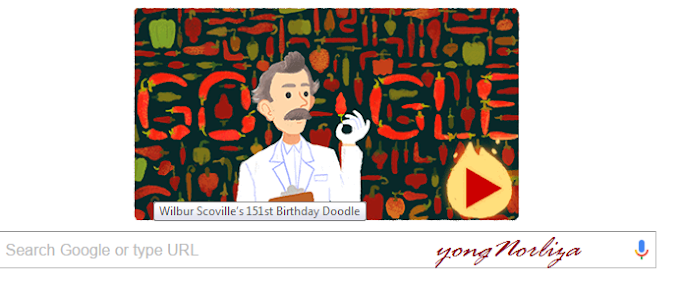 WILBUR SCOVILLE ON GOOGLE TODAY : SI PENGUKUR KEPEDASAN