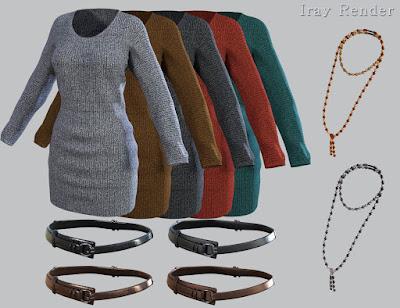Knit Dress for Genesis 3 Female