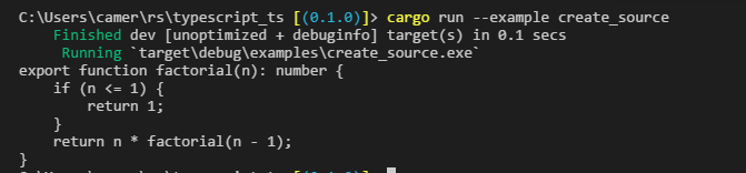 Creating and Printing a TypeScript AST from Rust | Taggart Software