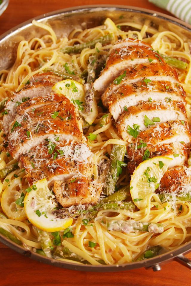 Lemon Asparagus Chicken Pasta - food-drink-recipes.com