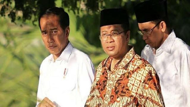 TGB Klaim Gubernur NTB Kader PKS Juga Dukung Jokowi