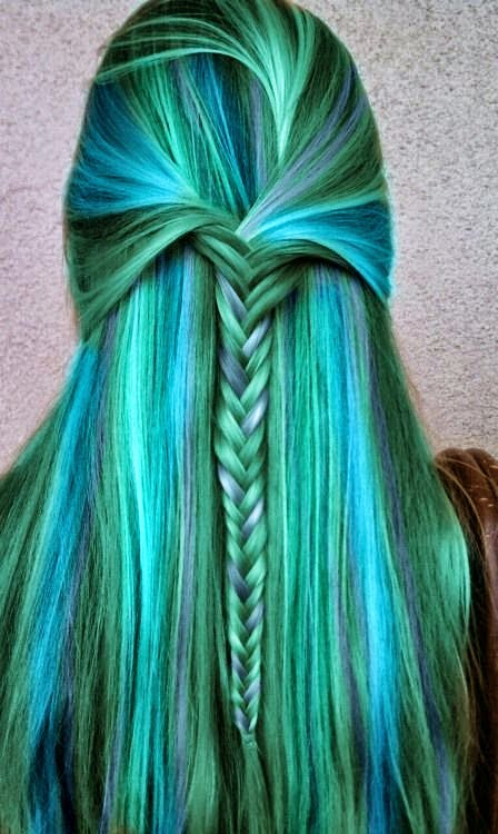 Cool green hair