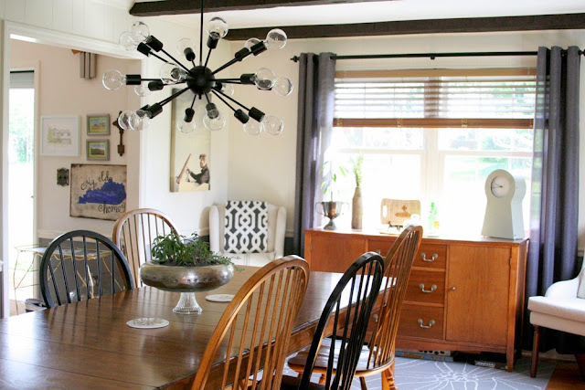 Modern Farmhouse Style Dining Room Makeover // Neutral Color Scheme // by Craftivity Designs