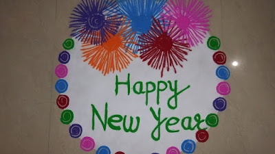 Amazing Happy New Year Rangoli Images
