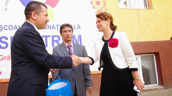 Lumina Romanian Turkish school inauguration