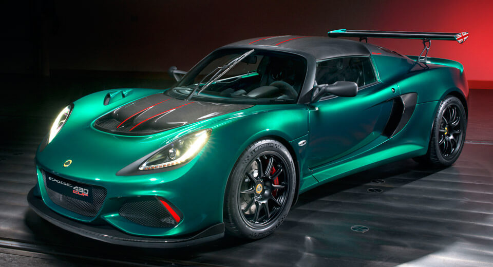Lotus introduced the fast 430 HP 430 coupe Exige Cup
