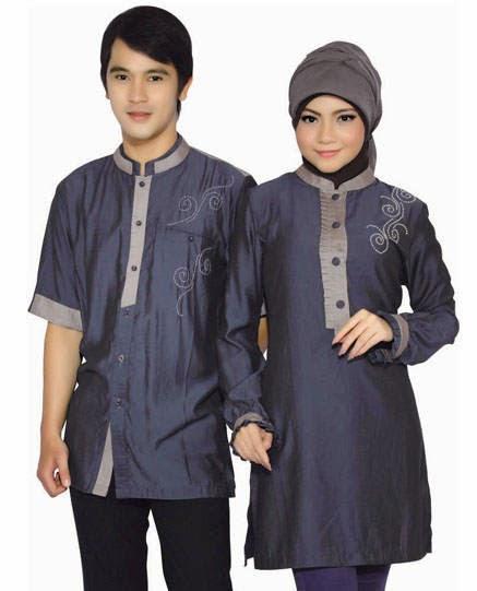 Baju Muslim Modern Warna Abu