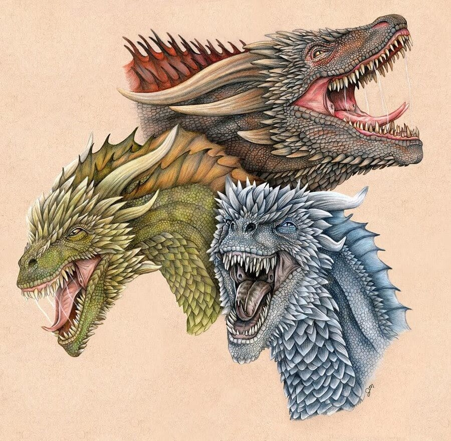 02-Drogon-Viserion-Rhaegal-GoT-Julianna-www-designstack-co