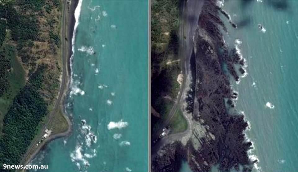 الزلزال الذي ضرب نيوزيلندا مؤخراً رفع قاع البحر بمقدار مترين !