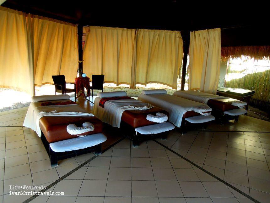 Spa area at Dos Palmas Island Resort and Spa