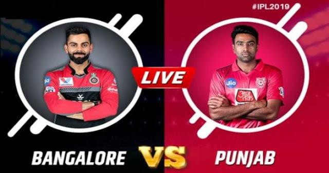 VIVO IPL 2019 Match 42 RCB vs KXIP Live Score and Full Scorecard