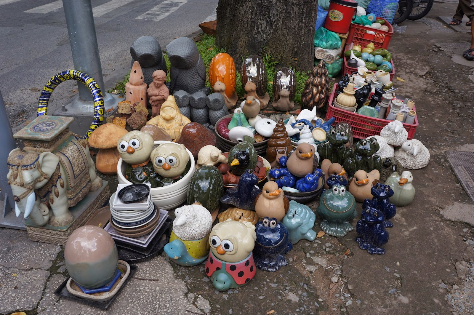 Pottery being sold right off the street in Ho Chi Minh City