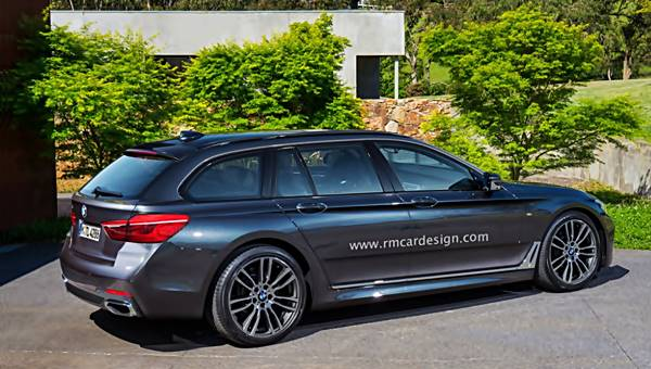 2017 BMW 5 Series G31 Touring Rendering, redesign, review, release, launching, performance, engine, design