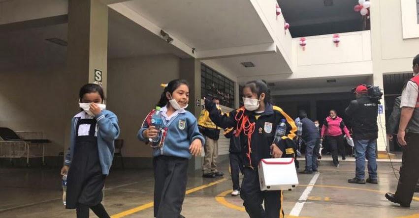 Más de 140 mil estudiantes participaron en primer simulacro de incendio para escolares de Lima