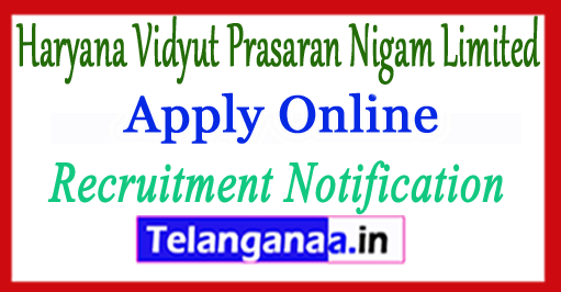 HVPNL Haryana Vidyut Prasaran Nigam Limited Recruitment Notification 2017 Apply