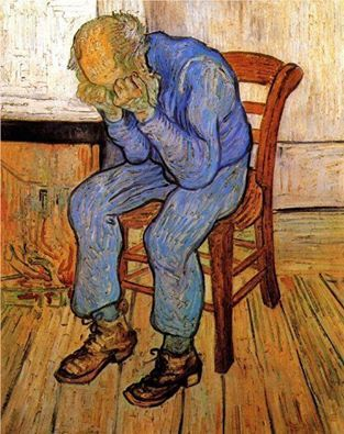 """Old Man in Sorrow"" (On the Threshold of Eternity) Vincent Van Gogh"