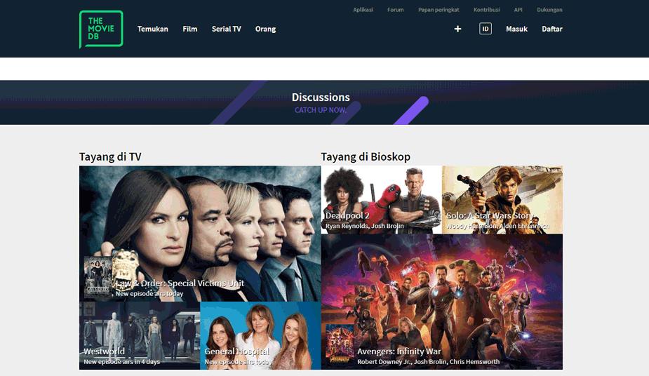 TMDb Pilihan Lain Pengganti IMDb