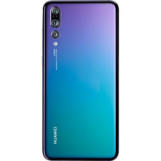 Stock image of a Huawei P20 Pro in color Twilight, which is the one I have