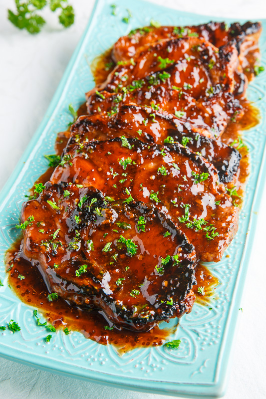 Balsamic Honey and Mustard Pork Chops