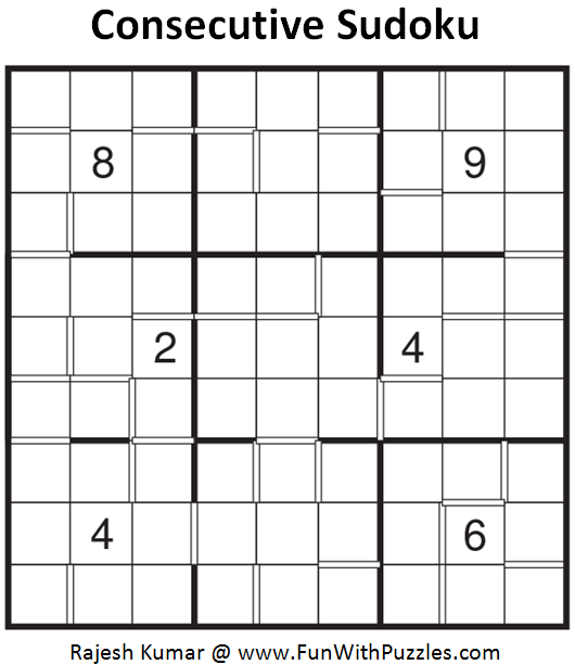 Consecutive Sudoku (Daily Sudoku League #125)
