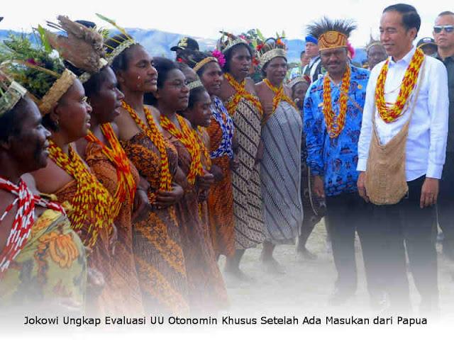 Jokowi Ungkap Evaluasi UU Otonomi Khusus Setelah Ada Masukan dari Papua
