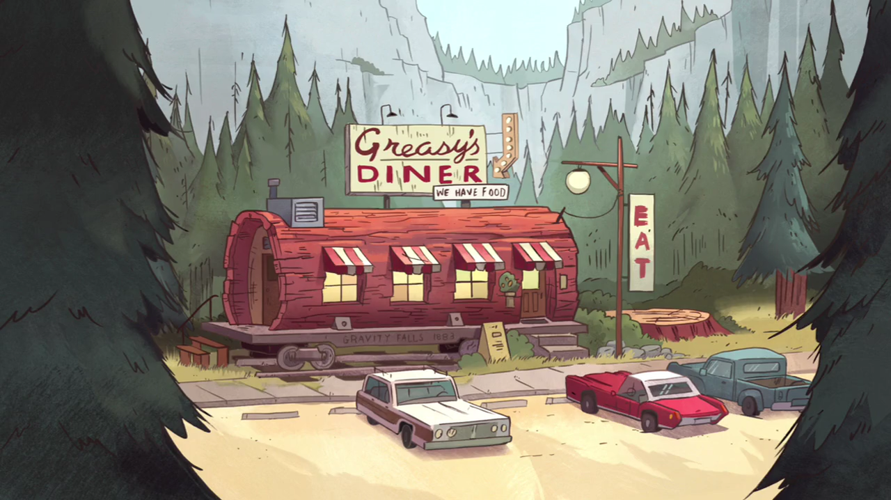Gravity Falls diner
