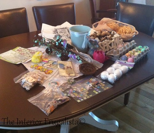 Embellishments for decorating a Spring Mantle for under $10.00!