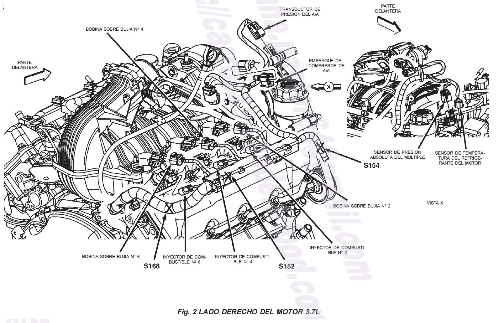 yosoymecanico  localizacion de sensores motor y